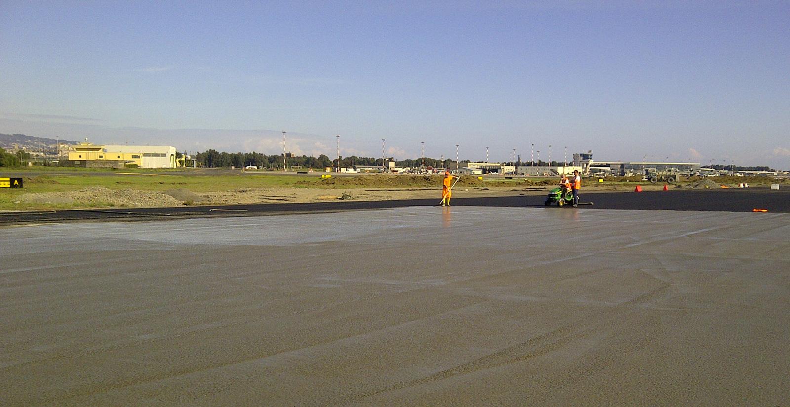 pavimentazione aeroporto Falconara - sintexcem