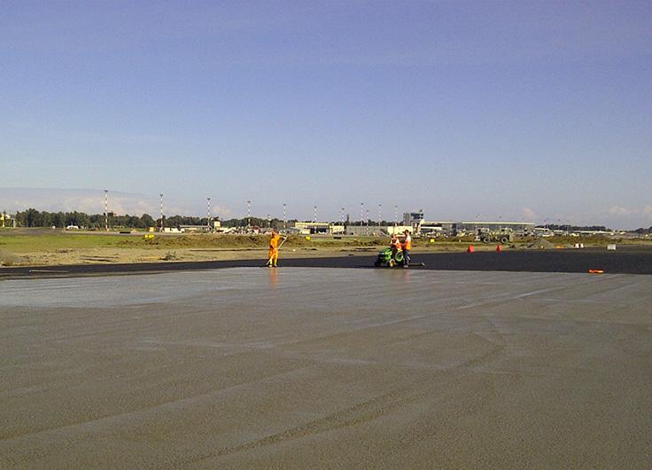 riqualificazione pavimentazione testate delle pista di volo - aeroporto di Catania
